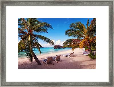 Waiting For You Framed Print by Jenny Rainbow