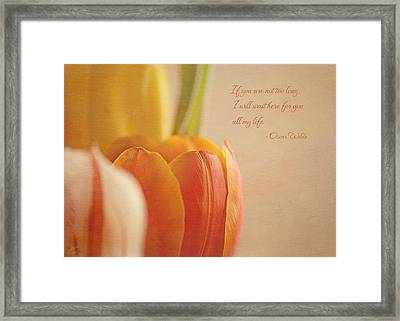 Waiting For You Framed Print by Lisa Knechtel
