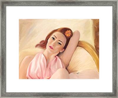 Waiting Glamour Framed Print by Angela A Stanton