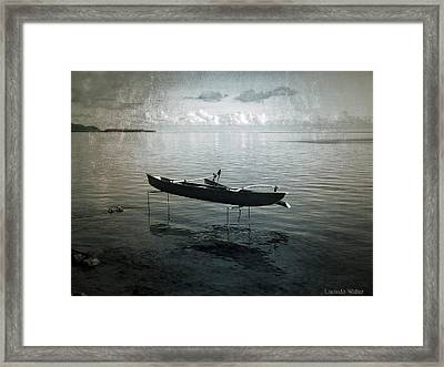 Framed Print featuring the photograph Waiting In Blue by Lucinda Walter