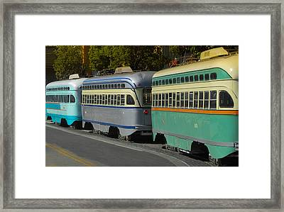 Waiting In Line Framed Print