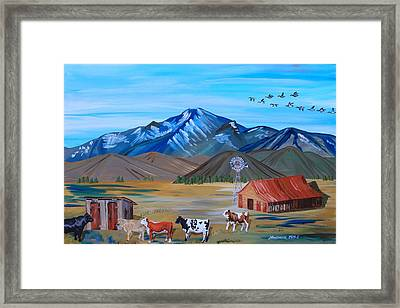 Waiting In Line Framed Print by Mike Nahorniak