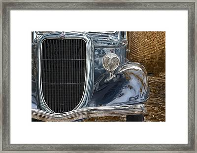 Waiting In The Alley Framed Print