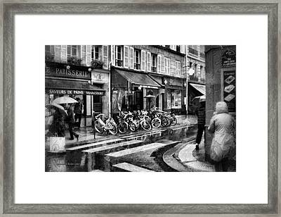 Waiting In The Bar For The Rain To Pass #1 Framed Print by Aleksander Rotner