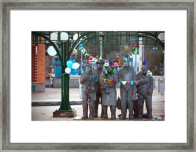 Waiting In The Interurban Framed Print by Joanna Madloch