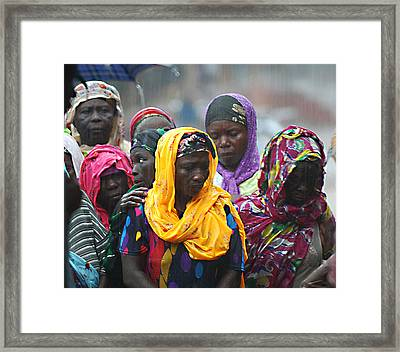 Waiting In The Rain Framed Print