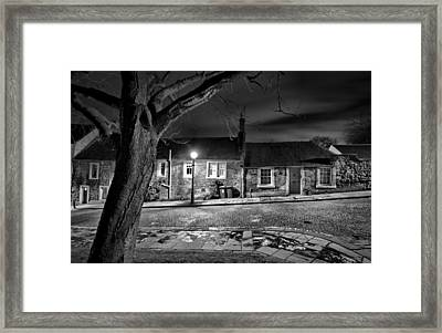 Waiting In The Shadows Framed Print by Buster Brown