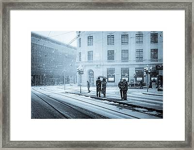 Waiting In The Snowstorm Framed Print by Yuri Fineart