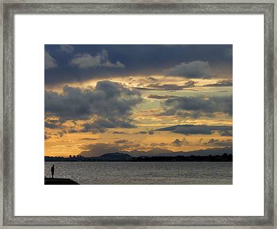 Waiting It Becomes Clear Framed Print by Alessio Casula
