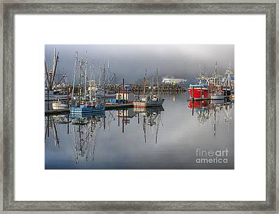 Waiting It Out Framed Print by Sandra Bronstein