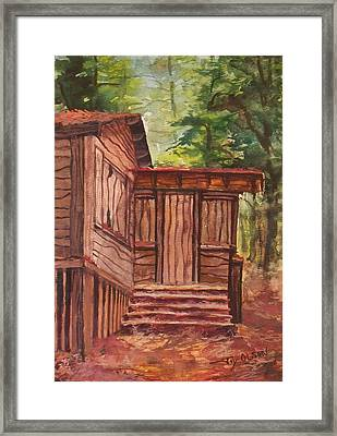 Framed Print featuring the painting Waiting by Joy Nichols