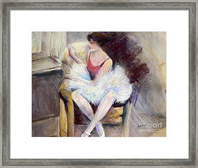Waiting Framed Print by Joyce A Guariglia