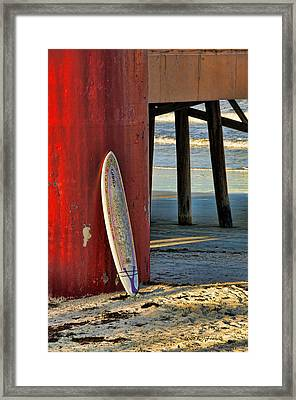 Framed Print featuring the photograph Waiting by Kenny Francis