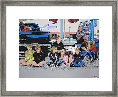 Waiting Framed Print by Lance Bifoss