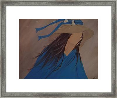 Waiting Framed Print by Melanie Blankenship