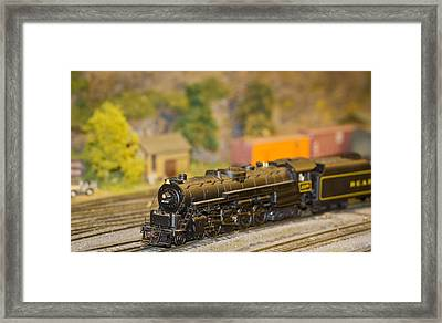 Waiting Model Train  Framed Print