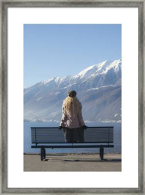 Waiting On A Bench Framed Print by Joana Kruse
