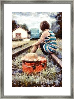 Waiting On A Train 3 Framed Print by Edward Fielding