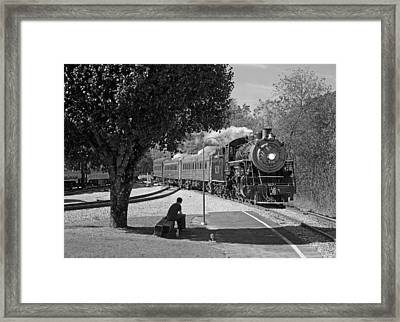 Waiting On A Train Framed Print