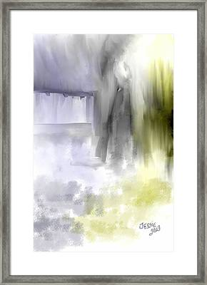 Framed Print featuring the digital art Waiting On Him by Jessica Wright