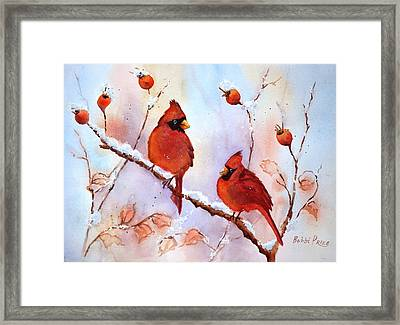 Waiting On The Girls Framed Print by Bobbi Price