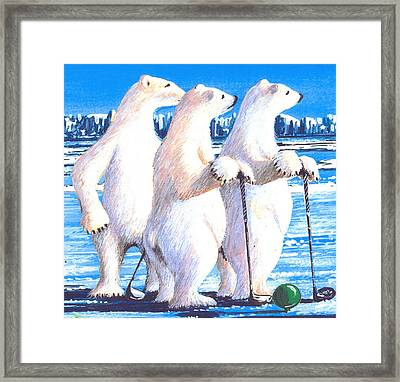 Waiting On The Tee Box Framed Print by Bob Patterson
