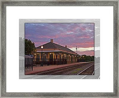 Waiting On The Train Framed Print