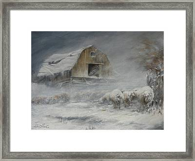Waiting Out The Storm Framed Print by Mia DeLode