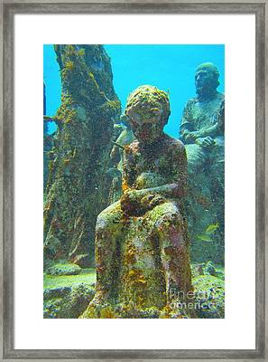 Waiting Patiently For The Coral To Grow Up Framed Print by Halifax photographer John Malone