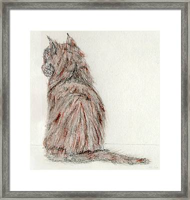Framed Print featuring the painting Waiting by Stephanie Grant