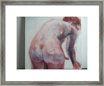 Waiting To Bathe Framed Print by Marilyn Greenway
