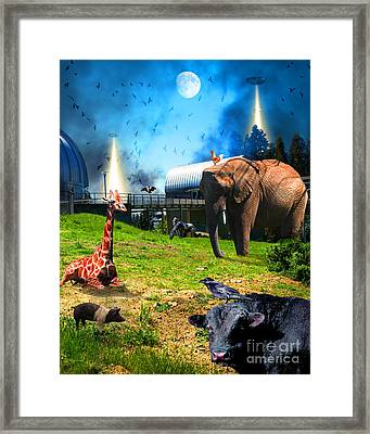 Waiting To Be Abducted By The Visitors At The Chabot Space And Science Center Dsc912 Vertical Framed Print by Wingsdomain Art and Photography