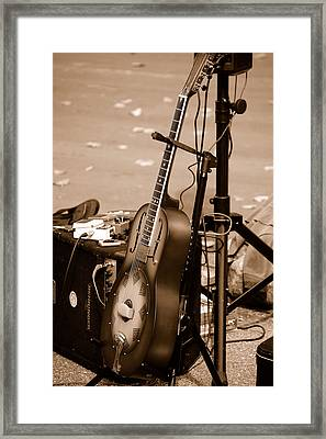 Waiting To Be Played Framed Print