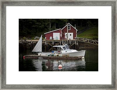 Waiting To Fish Framed Print