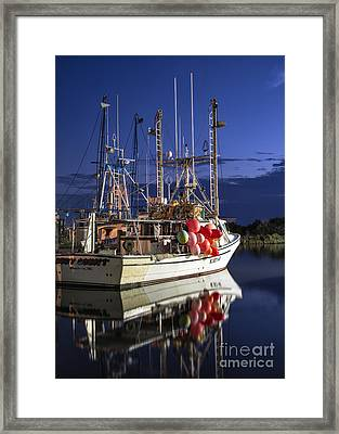 Waiting To Fish Framed Print by Terry Rowe