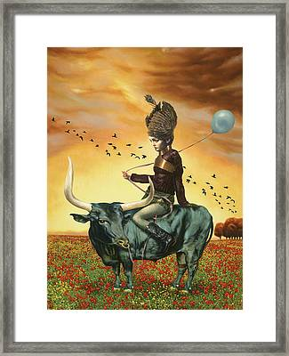 Waiting To Fly Framed Print by Vic Lee