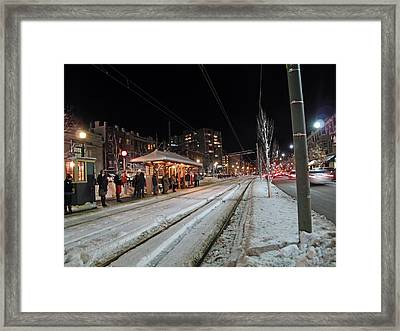 Waiting To Go Home Framed Print by Barbara McDevitt