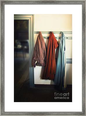 Waiting To Go Out Framed Print by Margie Hurwich