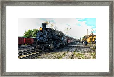 Waiting To Load Framed Print by Tamera James