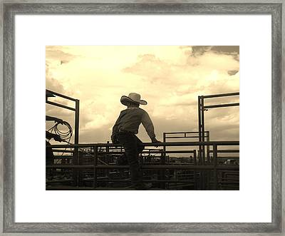 Waiting To Ride Framed Print by Feva  Fotos