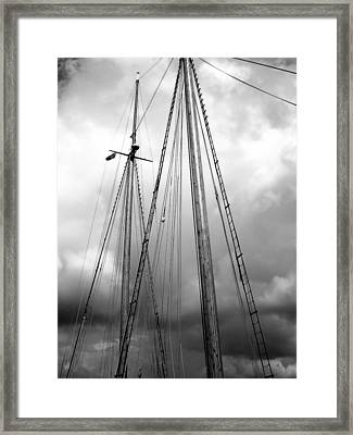 Framed Print featuring the photograph Waiting To Sail by Ellen Tully