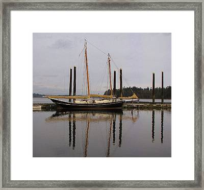 Waiting To Sail Framed Print by Feva  Fotos