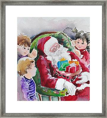 Waiting Up For Santa2 Framed Print