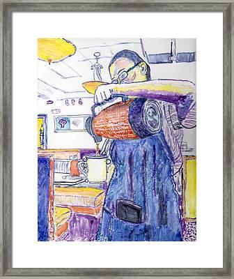 Waitress Framed Print