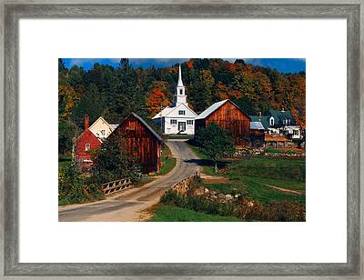 Waits River Village Framed Print by Andy Richards