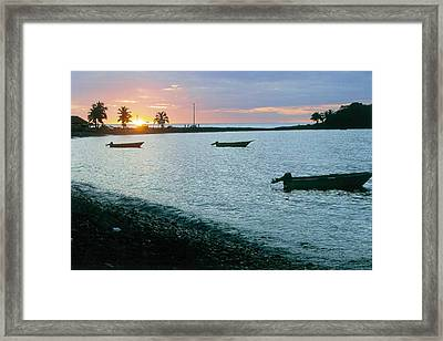 Waitukubuli Sunset Framed Print