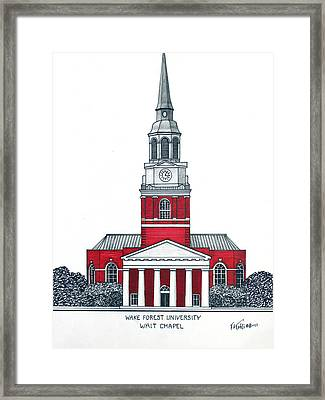 Wake Forest Framed Print by Frederic Kohli