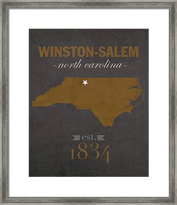 Wake Forest University Demon Deacons Winston Salem Nc College Town State Map Poster Series No 121 Framed Print by Design Turnpike