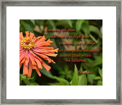 Wake Out Of Sleep Framed Print by Larry Bishop