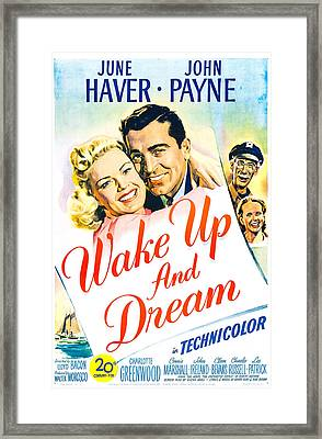 Wake Up And Dream, Us Poster, From Left Framed Print by Everett